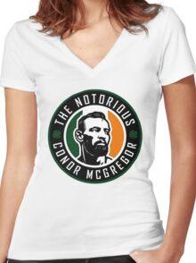 mcgregor logo Women's Fitted V-Neck T-Shirt