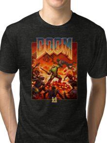 DOOM 4 (2016) Reboot Retro Box Art Tri-blend T-Shirt