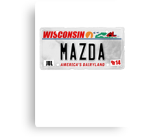 License Plate - MAZDA Canvas Print