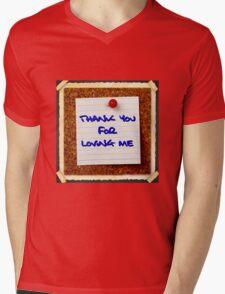 """""""Thank you for loving me"""" original design cushion Mens V-Neck T-Shirt"""