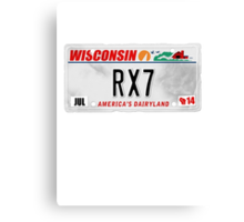 License Plate - RX7 Canvas Print