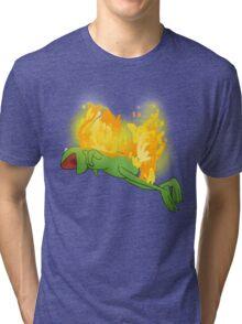 he yells Tri-blend T-Shirt