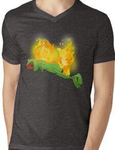 he yells Mens V-Neck T-Shirt