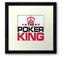 Poker King Framed Print