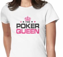 Poker Queen Womens Fitted T-Shirt