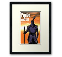 Praise The Sun Block Framed Print