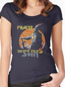 Praise The Sun Black Women's Fitted Scoop T-Shirt