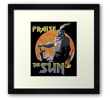 Praise The Sun Black Framed Print