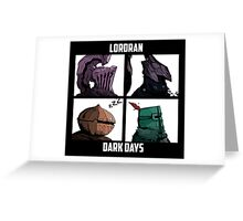 Dark Lordran Days Greeting Card