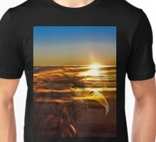 Adler Sonnenuntergang Unisex T-Shirt