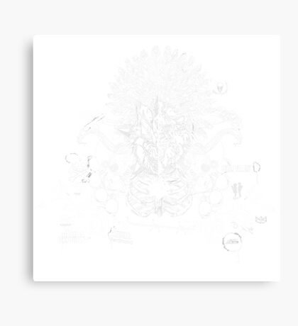 the lion & the wolf (white) Canvas Print