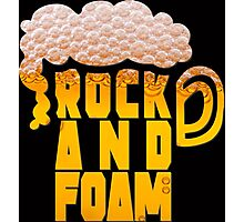 Rock and foam Photographic Print