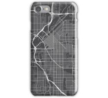 Denver Map, USA - Gray iPhone Case/Skin