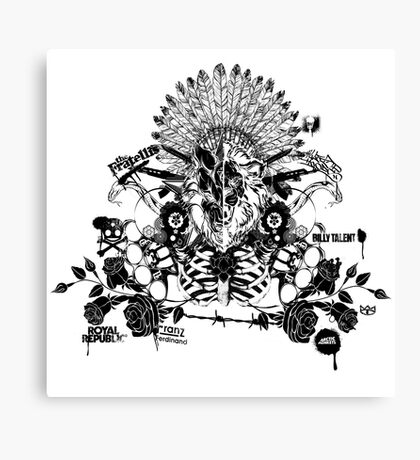 the lion & the wolf (black) Canvas Print
