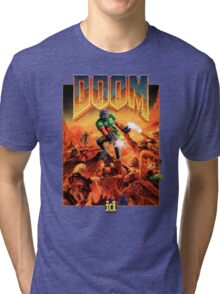 Doom Poster Art 1993 PC Tri-blend T-Shirt