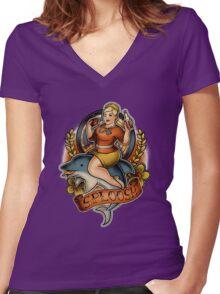 Sploosh Women's Fitted V-Neck T-Shirt