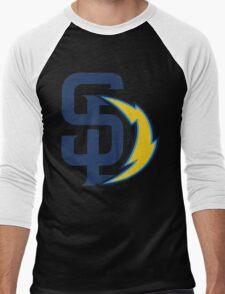san diego chargers Men's Baseball ¾ T-Shirt