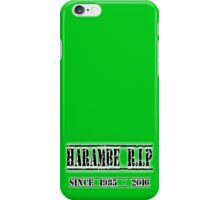 Harambe Gorilla RIP 2016 iPhone Case/Skin