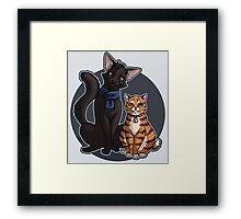 Catlock + Framed Print