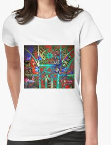 Fanciful Flowers_3873 Womens Fitted T-Shirt