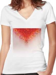 Field of flowers Women's Fitted V-Neck T-Shirt