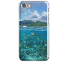 Above and below sea surface French Polynesia iPhone Case/Skin