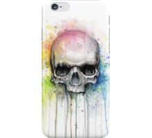 Skull Watercolor Painting iPhone Case/Skin