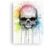 Skull Watercolor Painting Canvas Print