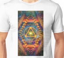 Ring round Triangle Egg of Life & Lunar Phases of the Moon Unisex T-Shirt