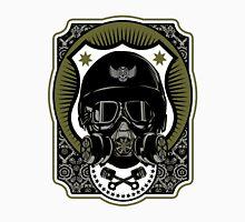 Drag Racing Helmet in Army Green  Unisex T-Shirt