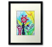 """""""Chex Floral"""" by Jessie R Ojeda Framed Print"""