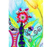 """Chex Floral"" by Jessie R Ojeda Photographic Print"