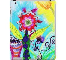 """""""Chex Floral"""" by Jessie R Ojeda iPad Case/Skin"""