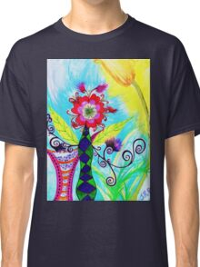 """""""Chex Floral"""" by Jessie R Ojeda Classic T-Shirt"""