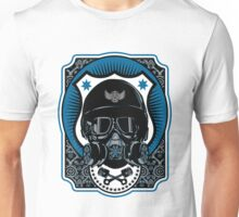 Drag Racing Helmet in Blue Unisex T-Shirt