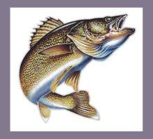 Waleye fish Kids Tee