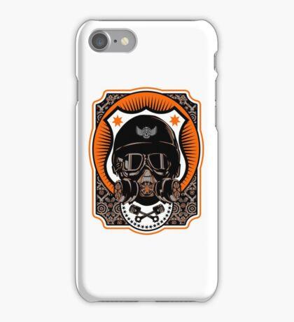 Drag Racing Helmet in Orange iPhone Case/Skin
