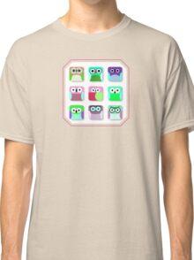 Cute Owl Pattern... digital cuties Classic T-Shirt