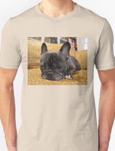 Pondering Frenchie Pup Unisex T-Shirt