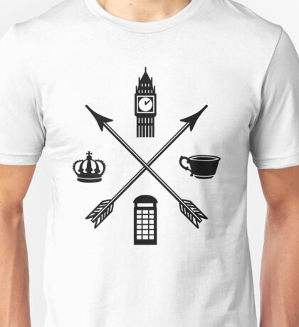 The London Four - Black Unisex T-Shirt