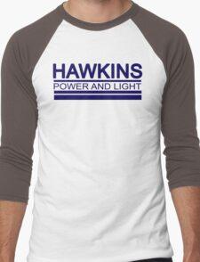 Hawkins Power and Light Men's Baseball ¾ T-Shirt