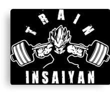 TRAIN INSAIYAN (Vegeta Squat - Leg Day) Canvas Print