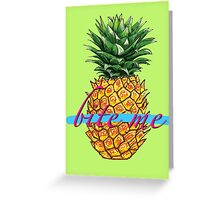 BITE ME TROPICAL PINEAPPLE  Greeting Card