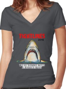 Tight Lines 2016 Women's Fitted V-Neck T-Shirt