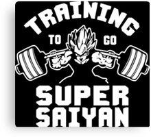 Training To Go Super Saiyan (Vegeta Squat - Leg Day) Canvas Print