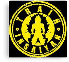 TRAIN INSAIYAN (Yellow Deadlift Crest) Canvas Print
