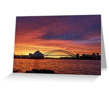 Sunset of the Year Greeting Card