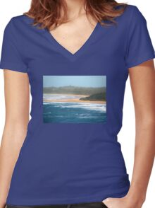 Coastal Town Women's Fitted V-Neck T-Shirt