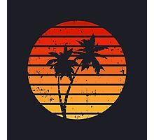 Retro Sun Photographic Print