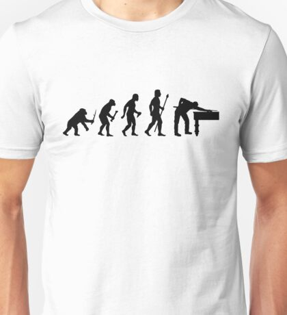 Funny Billiards Evolution Of Snooker Unisex T-Shirt